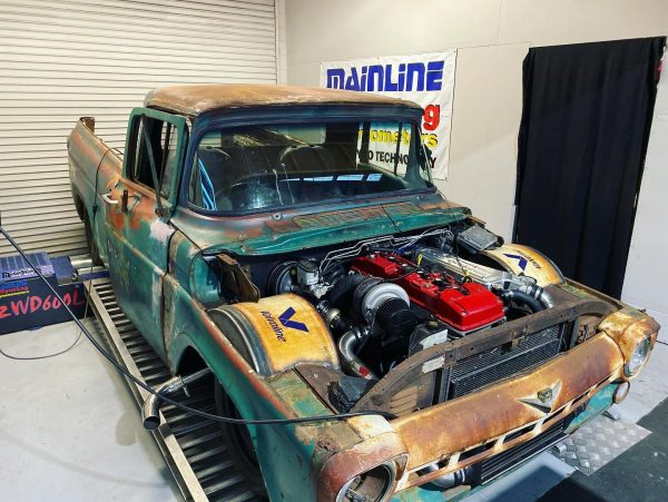 Classic Ford Truck with a Turbo Barra Inline-Six