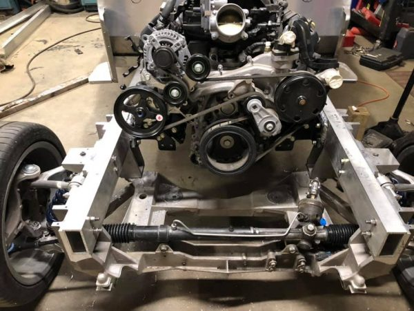 Custom aluminum Jeep with a supercharged L83 V8