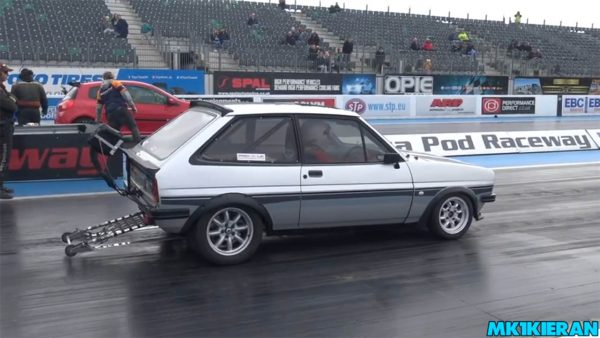 Ford Fiesta with a Mid-Engine EJ20 flat-four