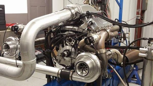 Holden Monaro dragster with a twin-turbo Chevy big-block V8