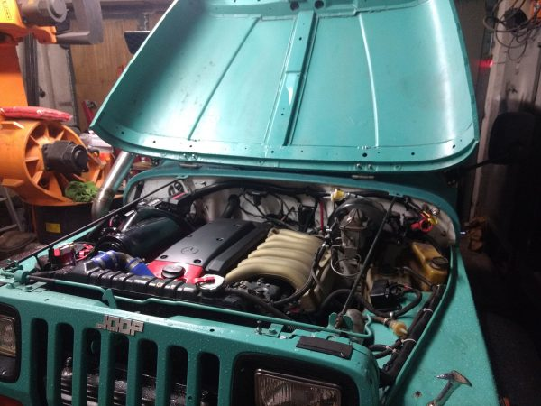 Jeep Wrangler YJ with a Mercedes OM606 Turbo Diesel Inline-Six