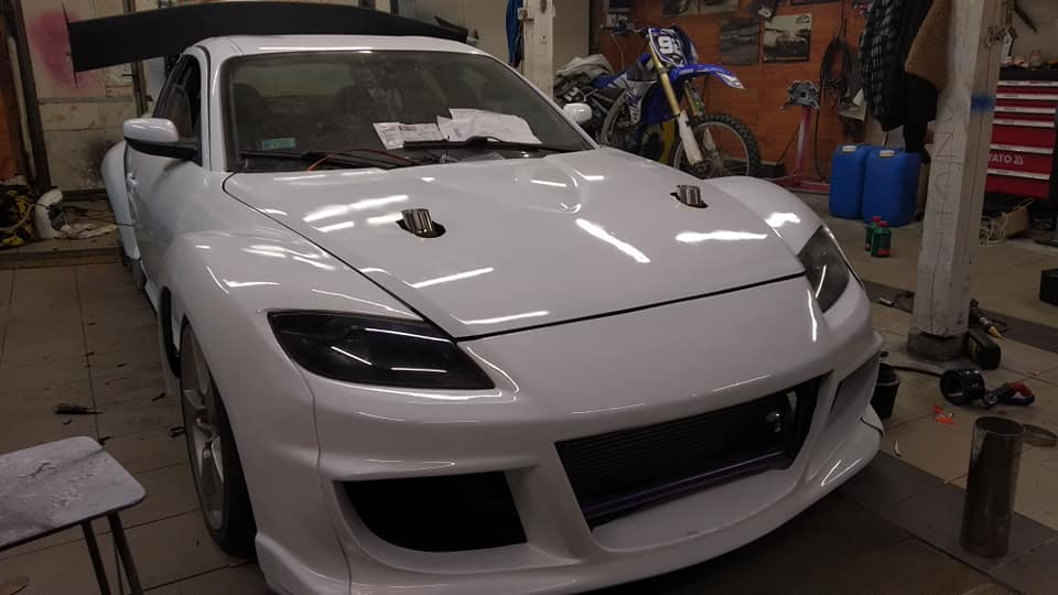 Mazda RX-8 with a Twin-Turbo Mercedes M113 V8
