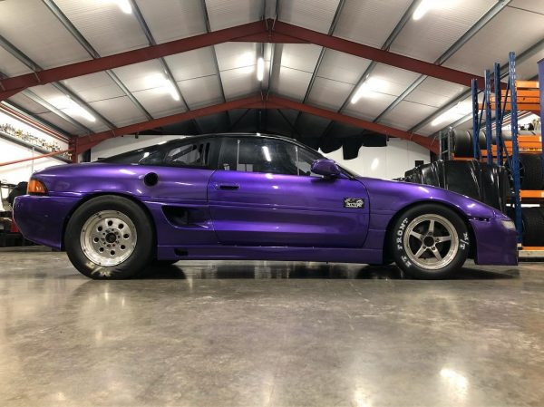 Toyota MR2 with a turbo 3S/5S inline-four