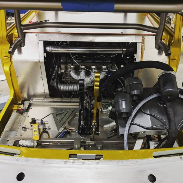 1974 Mini with a Turbo Hayabusa Inline-Four