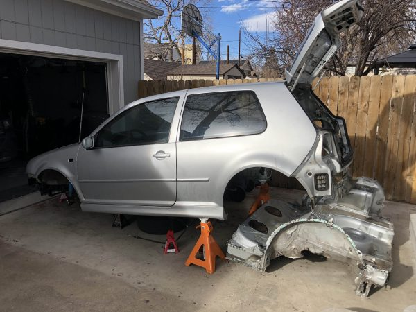 Golf Mk4 5-door hatch with a VR6 and AWD drivetrain