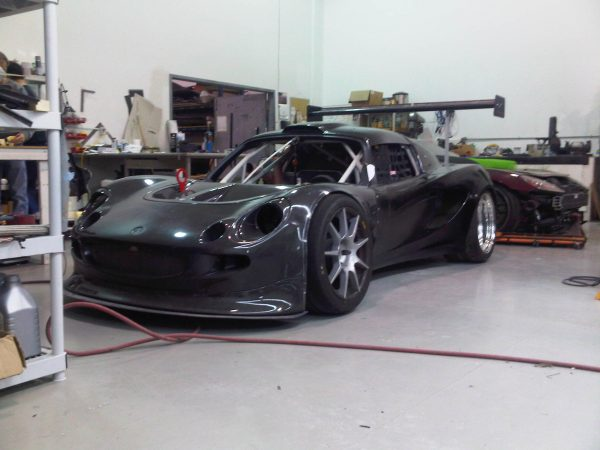 Lotus Elise with a turbo Honda K20 inline-four