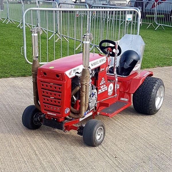 Wheel Horse Mower with a Honda CBR1000 motorcycle engine