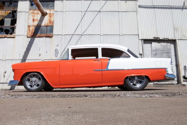 1955 Chevy with a supercharged LS9 V8