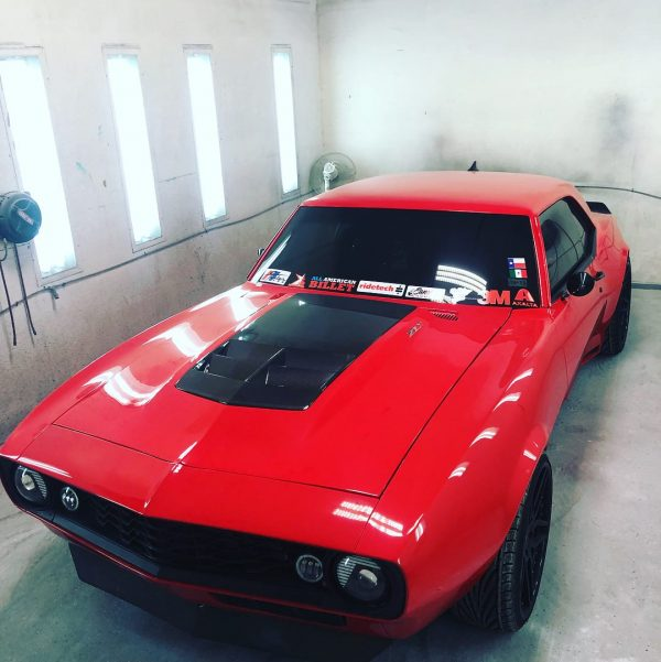 1968 Camaro with a supercharged LSA V8 and ZL1 chassis