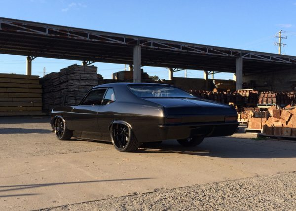 1970 Nova with a twin-supercharged Chevy big-block V8