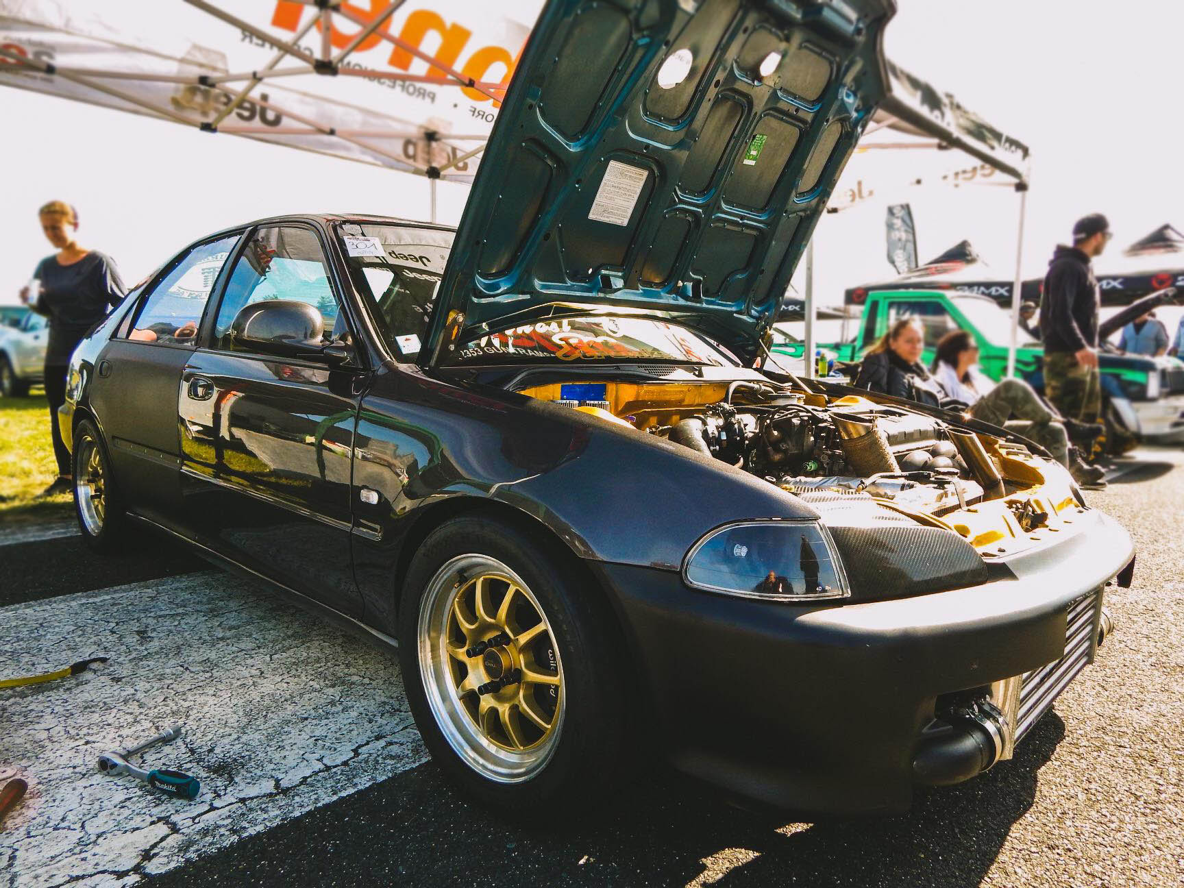 AWD Civic RTSi with a Turbo B18 inline-four