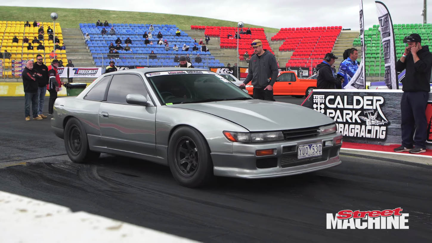 AWD Nissan S13 with a turbo 3.2 L RB-Series inline-six