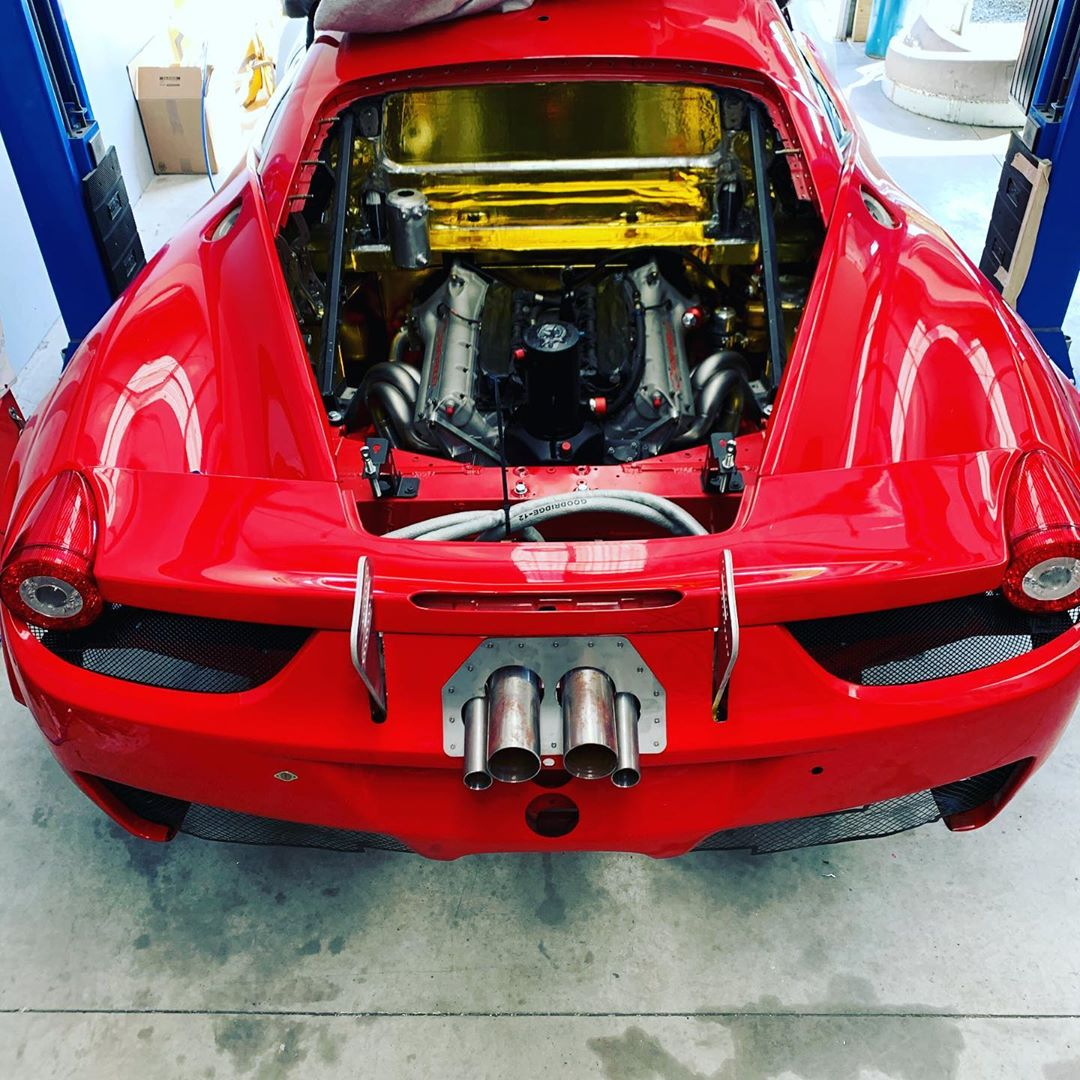 Ferrari 458 Gt3 With A Chevy Indycar V8 Update Engine Swap Depot