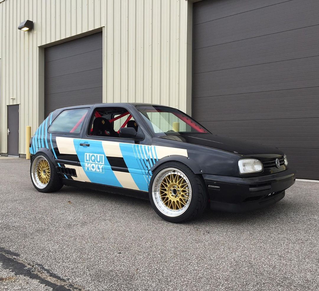 RWD Golf Mk3 with a BMW M62 V8