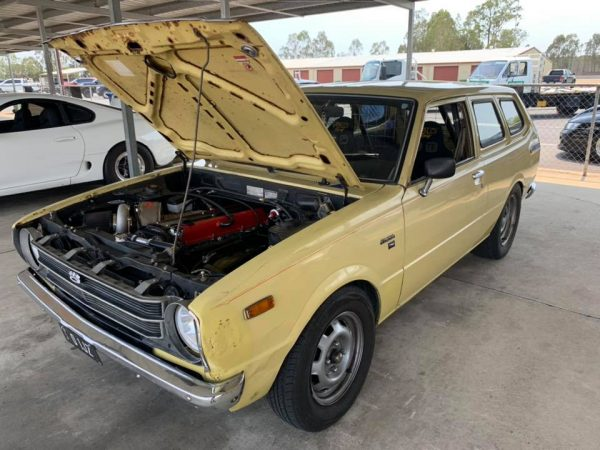 Toyota Corolla Wagon with a turbo 1JZ inline-six