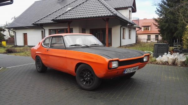 1970 Ford Capri with a 4.6 L V8