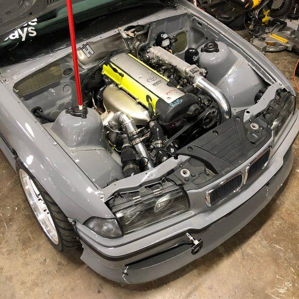 BMW E36 with a turbo 1JZ inline-six