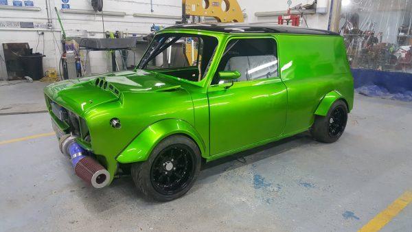 Mini Clubman with a Turbo Honda B18 Inline-Four
