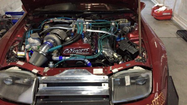 Nissan Fairlady Z with a turbo 3.6 L 2JZ-GTE inline-six