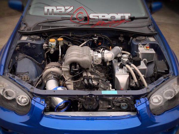Subaru WRX with a Turbo 20B Triple-Rotor