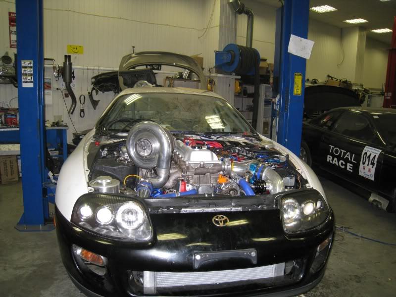 Toyota Supra with a turbo 1FZ-FE inline-six