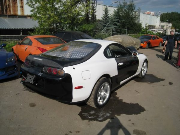 Toyota Supra with a turbo 1FZ-FE inline-six