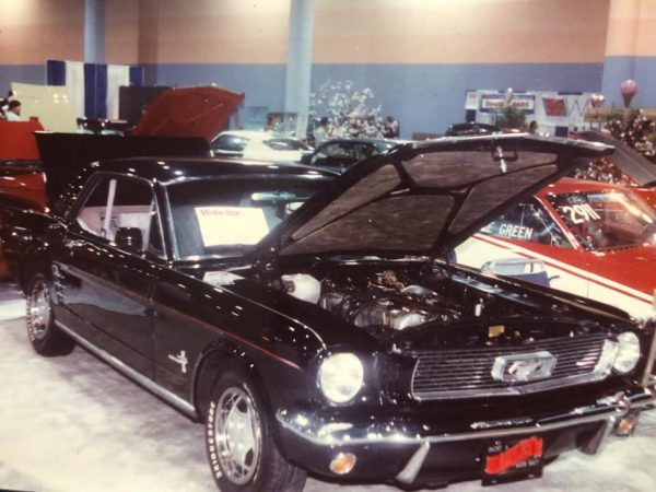 1966 Mustang with a Nissan L28 inline-six