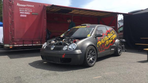 Dahlback Racing Polo RSR with a turbo V6 and AWD drivetrain