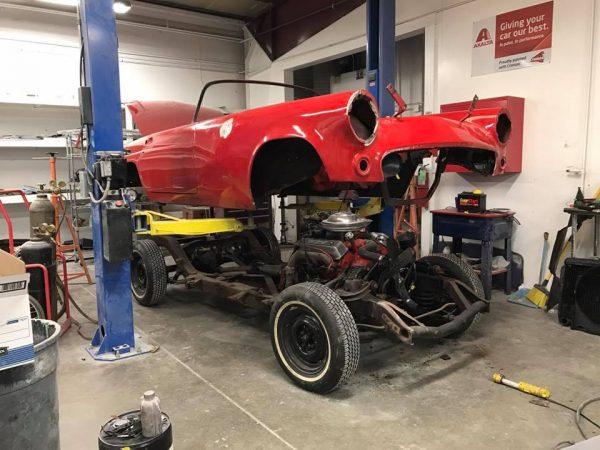 1955 Thunderbird with a Coyote V8