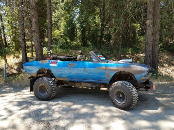 1966 Corvair with a 1984 Chevy Blazer chassis and powertrain