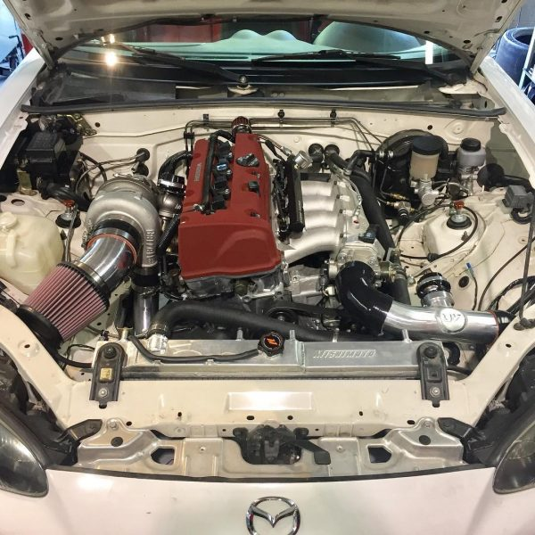 2001 Miata with a turbo K20 inline-four