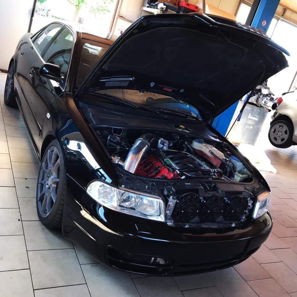 Audi A4 with a Twin-Turbo V8
