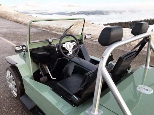 Custom Mini Moke with a 4.7 L Maserati V8