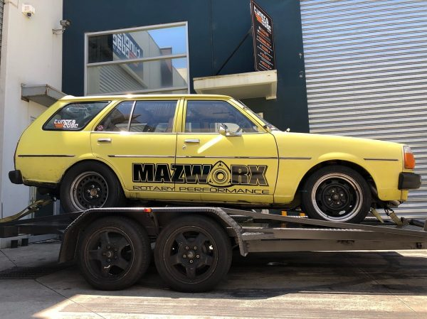 Mazda 323 wagon with a turbo 13B rotary