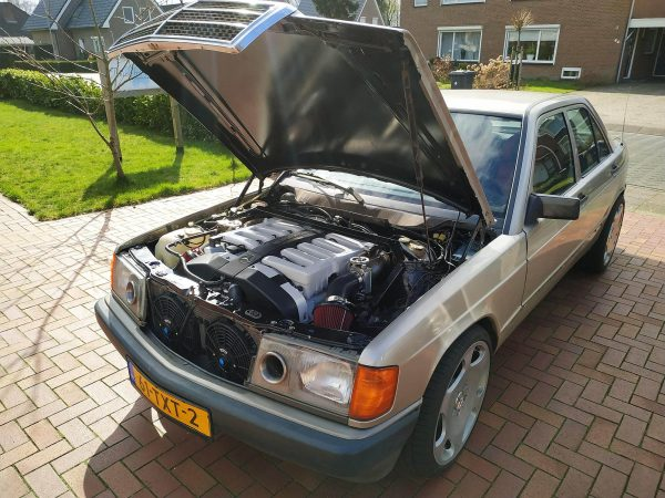 Mercedes 190 with a 6.0 L M120 V12