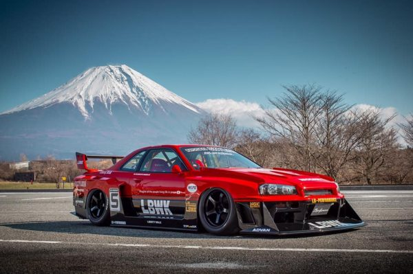 Nissan R34 with a 3.1 L L28 inline-six