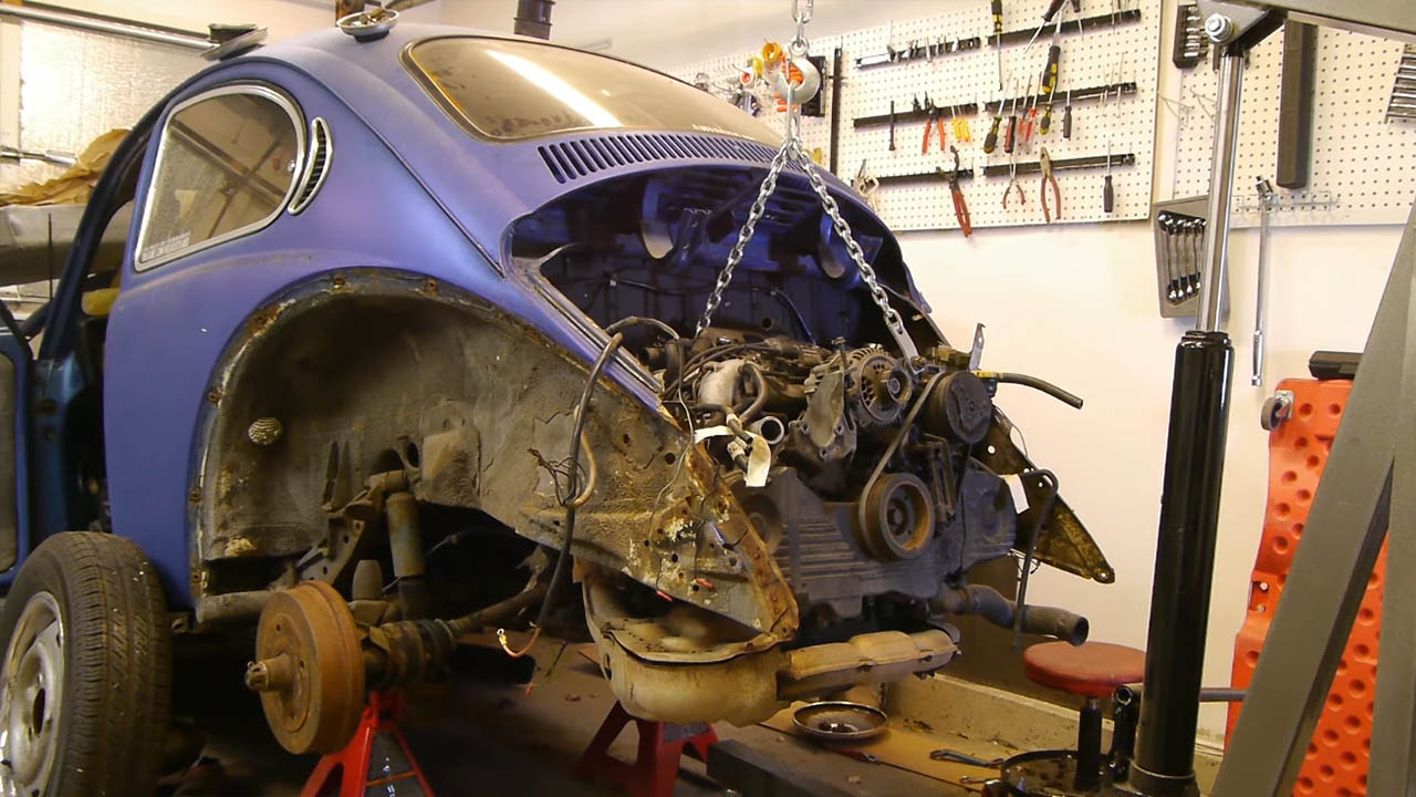 Project Bugford VW Beetle with a Subaru EJ22T flat-four