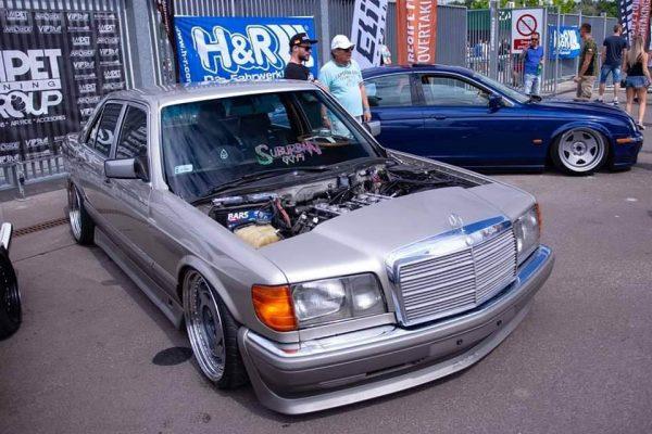 Mercedes W126 with a BMW M60 V8
