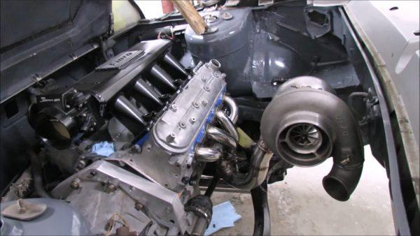 Pontiac Fiero with a Turbo LS3 V8