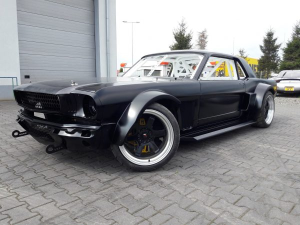 1966 Mustang with a Twin-Turbo Chevy V8