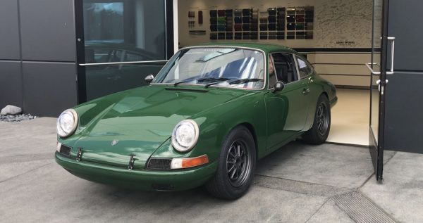 1968 Porsche 912 with a Tesla Model S electric motor