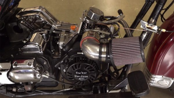 1995 Harley-Davidson with a Harbor Freight Single-Cylinder Motor