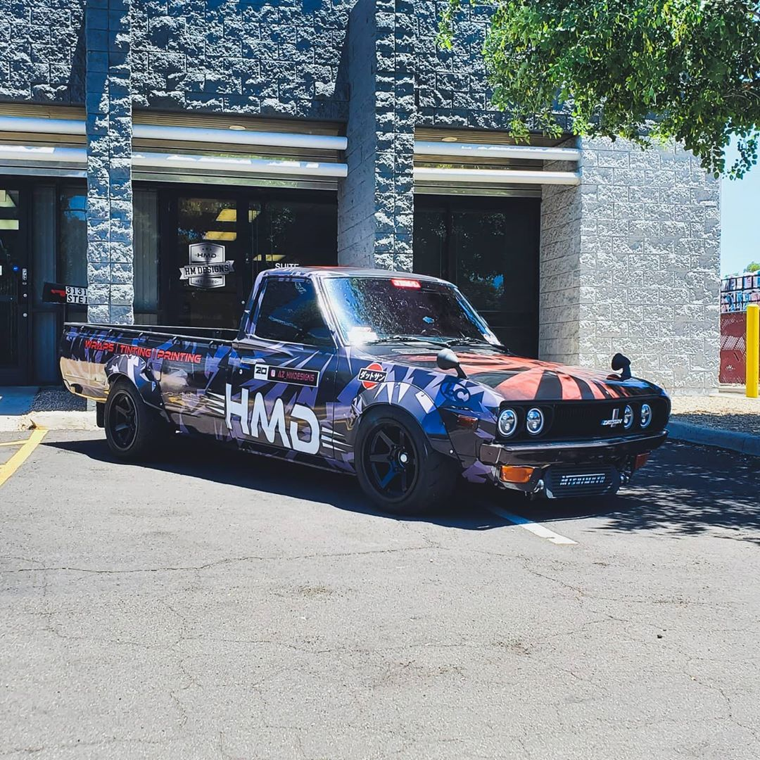 Datsun 620 truck with a turbo SR20DET inline-four