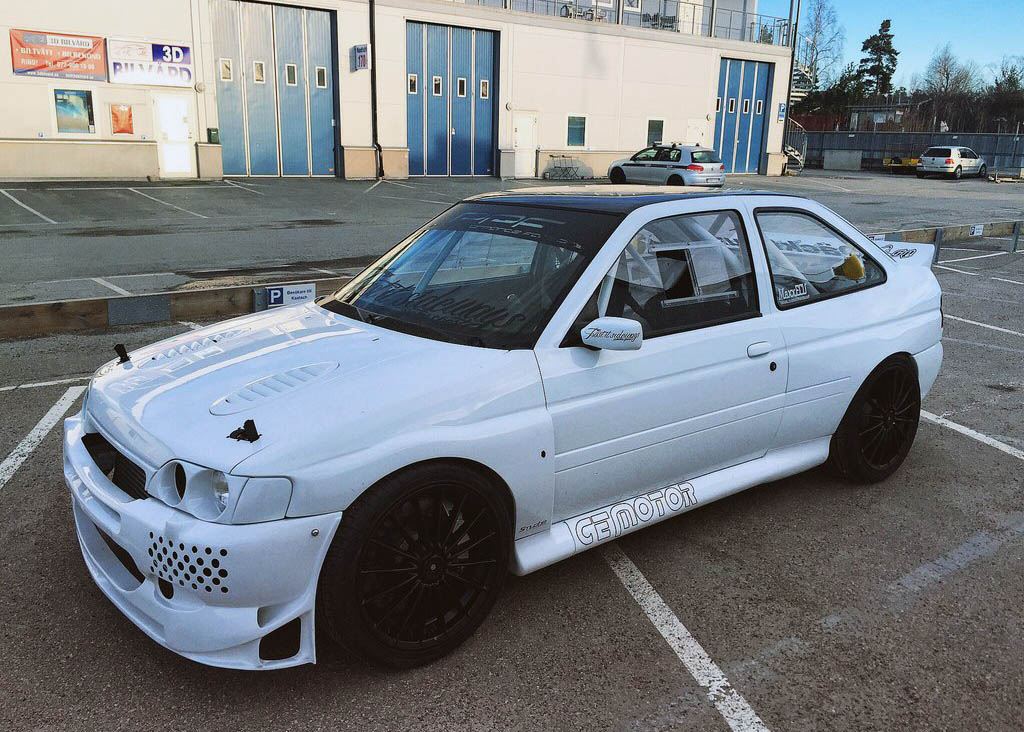 Ford Escort with a turbo VW inline-five and GTR drivetrain
