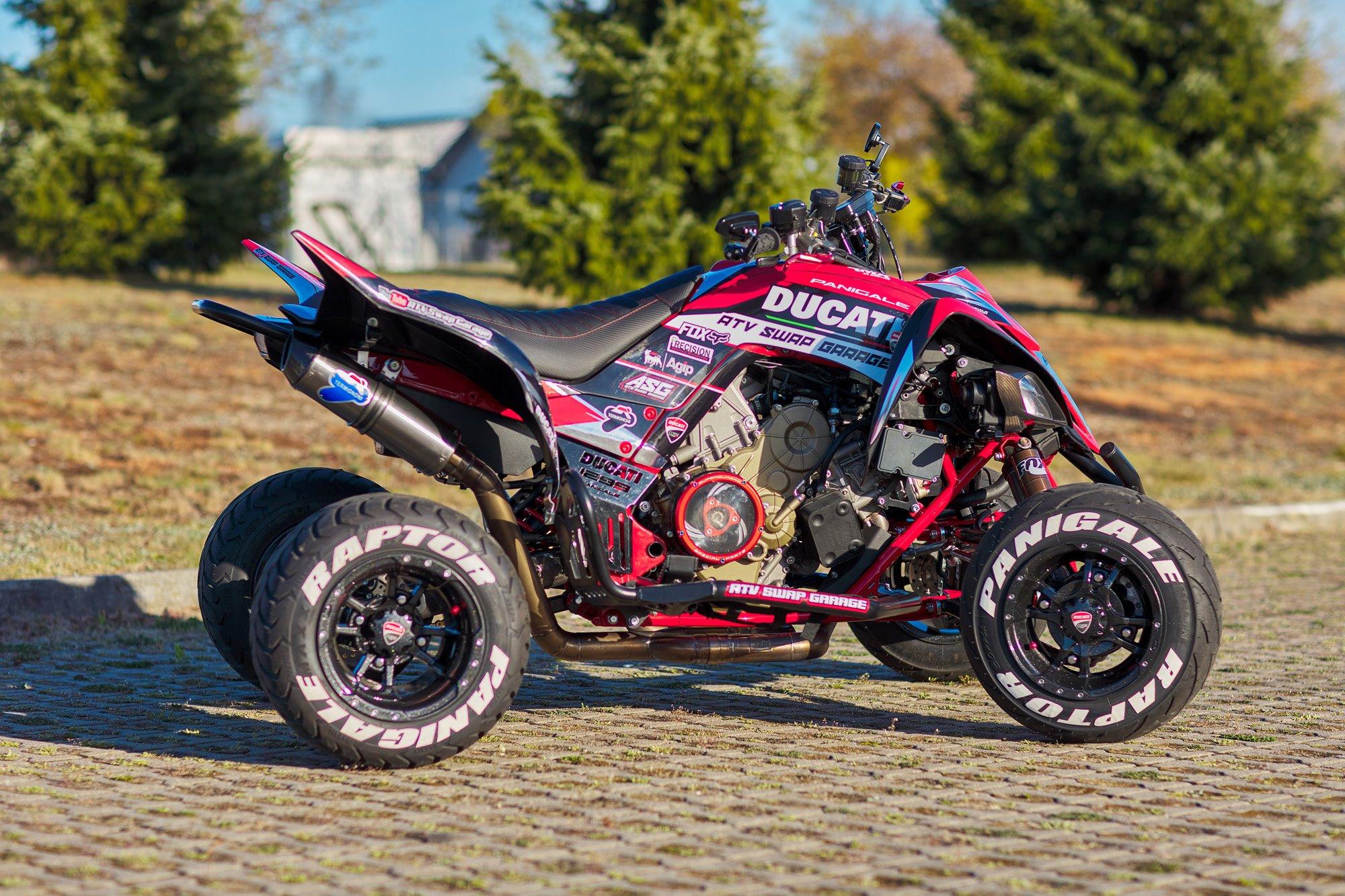 Yamaha Raptor with a Ducati Panigale 1299 V-Twin Motor