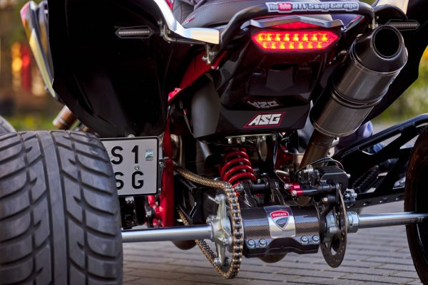 Yamaha Raptor with a Ducati Panigale 1299 V-Twin Motor