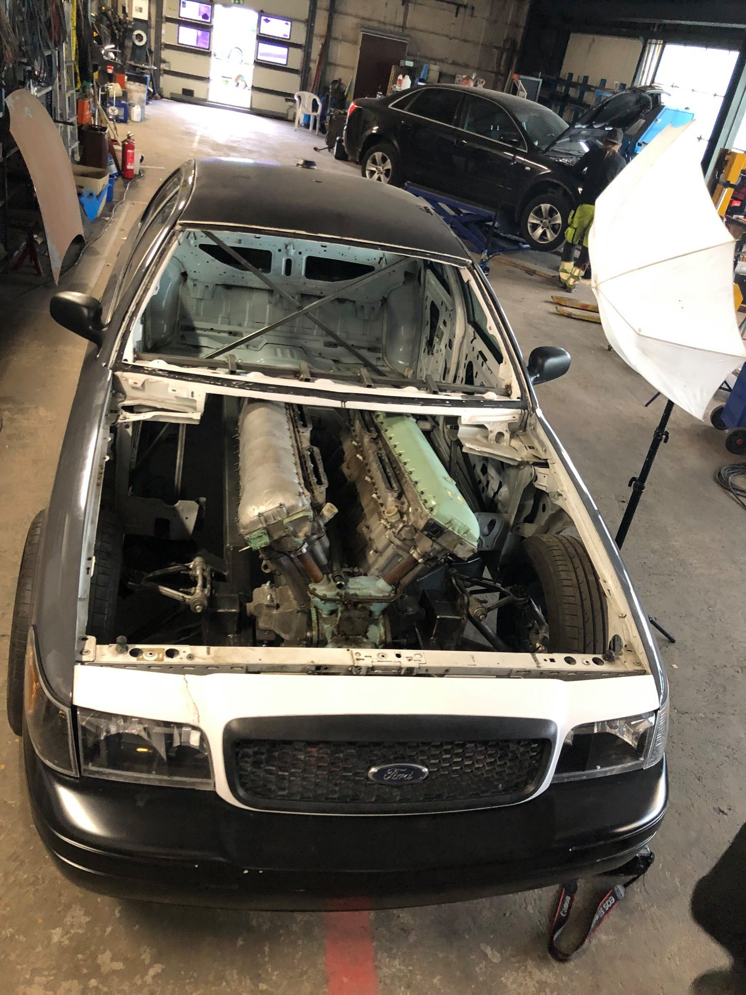 Crown Victoria with a Twin-Turbo 27.0 L Meteor V12
