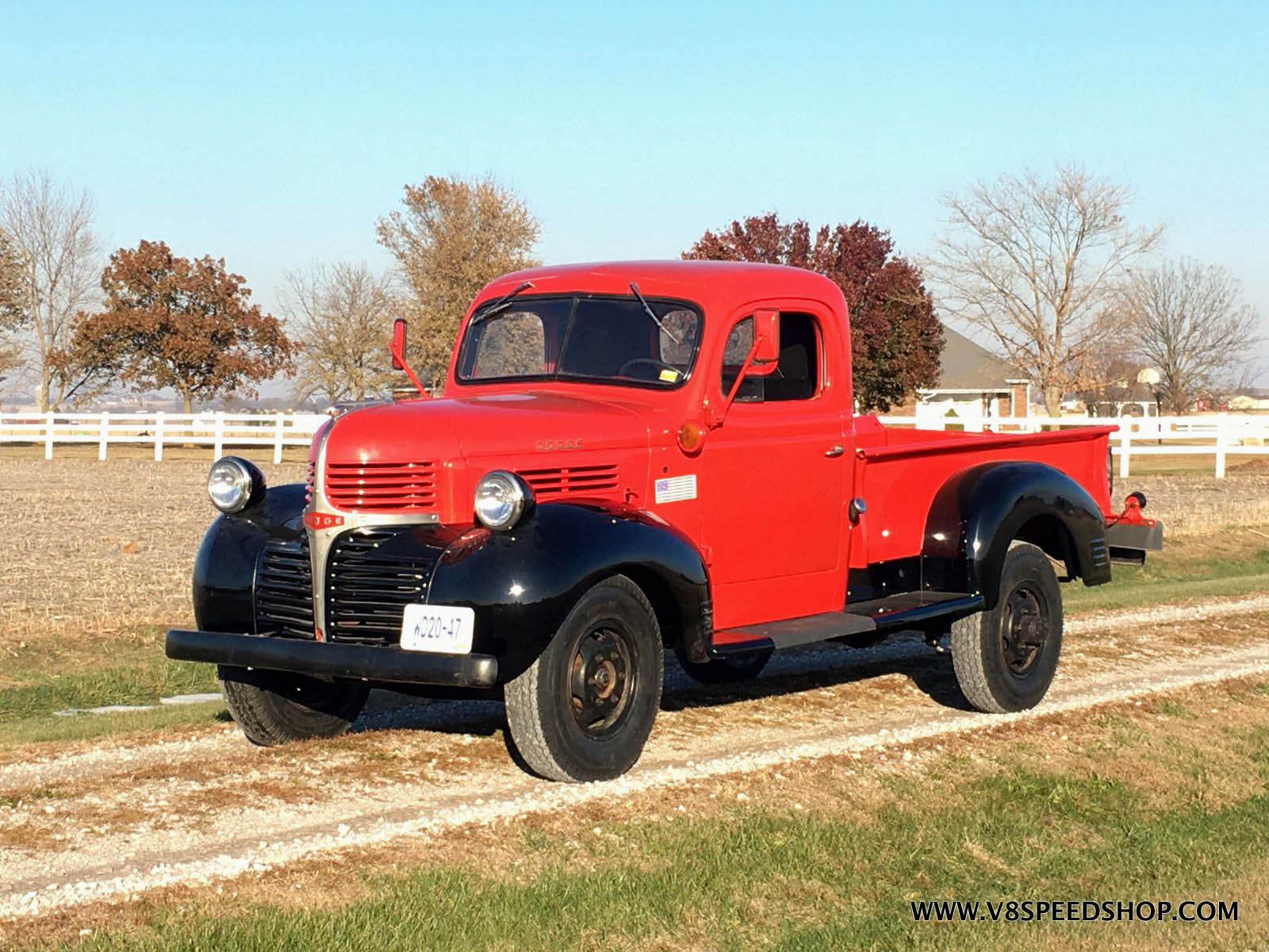 1947 Dodge truck with a 4.0 L Jeep inline-six
