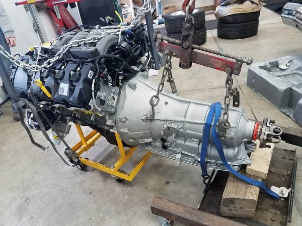 Gen 3 Coyote V8 and 6R80 automatic transmission going into a 1959 Thunderbird