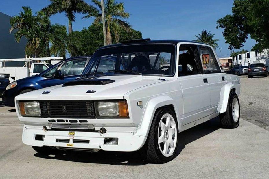 1988 Lada with a turbo 2JZ inline-six